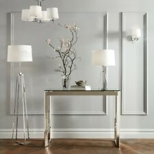 John Lewis Lockhart Floor Lamp, SILVER Chrome WITH SHADE - £195