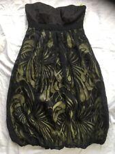 MONSOON 10 Black Dress LBD Strapless Bubble Skirt Party Occasion VGC Silk Blend