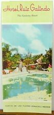 1950's Hotel Ruiz Galindo Fortin de las Flores Veracruz Mexico vintage brochure