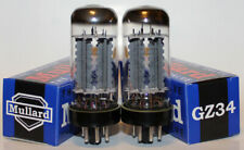 Matched Pair Mullard GZ34 / 5AR4 rectifier tubes, Brand NEW in Box !