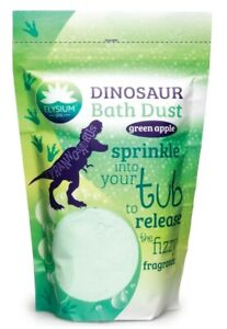 Elysium Dinosaur Bath Dust Green Apple Scented Magical Bath Fizz 400g Pouch