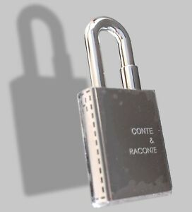Hermes Silvered CONTE ET RACONTE Cadenas Lock Charm, BNWTIB!
