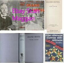Vicki Baum  GRAND HOTEL  1st w/ scarce ORIGINAL dj 1930 Austrian author