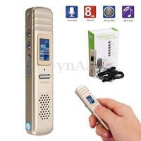 8GB Digital LCD Audio Voice Recorder Dictaphone MP3 Speaker Player U Disk Pen