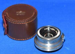 Nippon Kogaku Tokyo 3.5cm 3.5 W Nikkor C, Rangefinder Lens Early Model