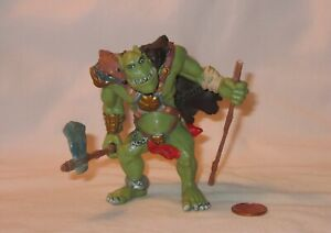 Orc Troll With Axe And Staff PVC Figure; By Papo