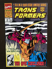 Transformers #80 First Printing Marvel Comic Book Final issue in series