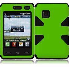 Dynamic Hybrid Tuff Gel Hard Case for LG 840G - Black/Green