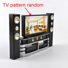 Hi-Fi Tv Cabinet Set Combo for Barbie Doll's House Furniture Living Room (S103)