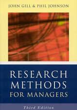 I metodi di ricerca per i manager da Phil Johnson, John Gill (libro in brossura, 2002)