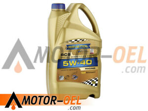5 Liter RAVENOL RCS Racing Competition Synto SAE 5W-40 Motoröl Made in Germany
