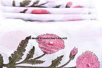 Indiano Stampa Floreale Corsa Cotone Naturale Tessuto Medicazione Decorazione