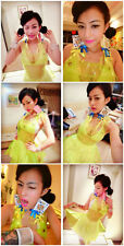 Womens Strap Dress Hologram Costumes SEXY QUEEN Custom Neon PVC Laser Clear