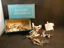 VINTAGE SEWING MACHINE ACCESSORIES - GREIST MISC IN VINTAGE ROTARY BOX