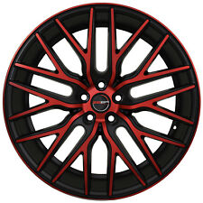 4 GWG Wheels 22 inch Black Red Face FLARE Rims fits MAZDA CX-7 2007 - 2012