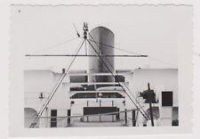 original Foto Dampfer BREMEN Lloyd Deck Schornstein USA FAHRT vintage photo 1935