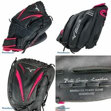 "Girls Mizuno Finch GPP 1155F1 11-1/2"" Softball Glove Black Pink RHT"
