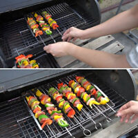 Portable Stainless Steel BBQ Rack Meat Vegetables Foods Grill Tool Camping Part