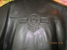 Harley Davidson LARGE Embossed Vintage FATBOY Leather Jacket 98117-91VM
