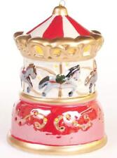 Mr. Christmas Illuminated Porcelain Ornament - New - Carousel