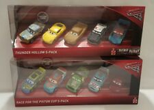Lot 2 Disney Pixar Cars 3 Race for the Piston Cup Thunder Hollow 5-PACK Demo New