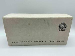 1993 Classic Football Draft Gold Set Factory Sealed Mirer Bledsoe Auto 1593/5000
