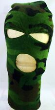 Woodland Forest Green Camo 3 Hole Face Watch Cap Ski Mask Airsoft Camouflage NEW