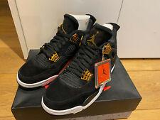 Air Jordan 4 IV Retro Black Gold White Royalty Shoes NBA Game Size UK 8 US 9