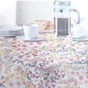 Fabric Tablecloth Wildflower Floral Flowers 52x70