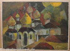 """Russischer Meister Russisch/orthodoxe Kirche mit sieben Zwiebeltürmen"""""""
