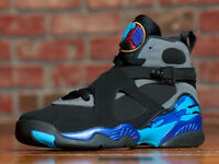 YOUTH NIKE AIR JORDAN 8 RETRO VIII GS BG BLACK AQUA CONCORD 305368 025 SZ 4Y-7Y