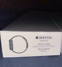 Brand New Sealed Apple Watch Series 3 42mm Case Space Gray Band Black GPS