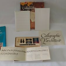 Sheaffer Calligraphy Box Set 2 Used Inks Nibs Books Paper Techniques Book Lot