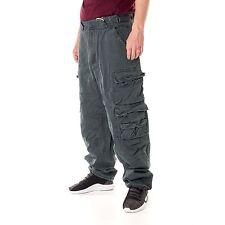 JET LAG 007 Urban Chic Pantalones hombre pantalón Cargo Gris Oscuro 15622