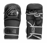 Fuji Sports Ascension 2.0 Hybrid MMA Kickboxing Sparring Training Gloves - Black