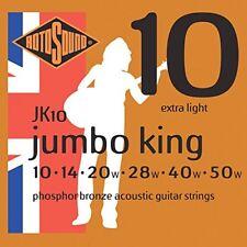 Jeu de cordes Guitare Acoustique Rotosound Jumbo King Jk10 10-50