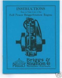 BRIGGS & STRATTON  MODELS  F,FB, & FC BOOK (BLUE)