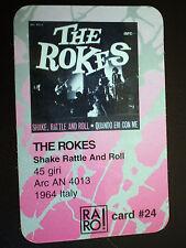 vendo CARD n.24 omaggio RIVISTA RARO THE ROKES SHAKE RATTLE AND ROLL 1964 ITALY