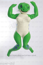 Latex/Rubber .45mm Inflatable Frog Catsuit bodysuit suit mask hood body clothing