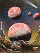 """SPRAY PAINT ART ~Red River Castle~ (16""""x20"""") Space Painting"""