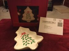 Lenox China Holiday Bowl Tree Dish Christmas Multi Color New Gift In Box .Mint,
