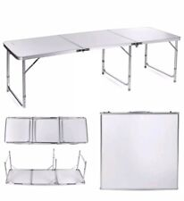 6FT FOLDING COLLAPSIBLE PORTABLE  CAMPING PICNIC CATERING MARKET POP UP TABLE