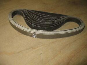 """10- 1/2 x 18"""" 3M Trizact 280 grit sanding belts. Fits Dynafile style sanders"""
