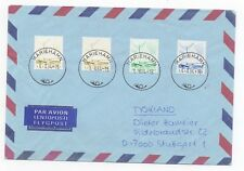 1984 ÅLAND Air Mail Cover MARIEHAMN to STUTTGART GERMANY Ships Boats Marine