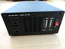 600 Watt Pure Sine Wave Power Inverter, 1200 Watt Peak 12V DC-110/120V AC 60Hz