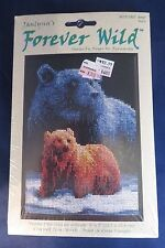 "Janlynn Forever Wild Counted Cross Stitch Kit ""Bear Ours""  5""x 7"" - Unopened"