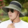 Bucket Hat Cap Cotton Fishing Boonie Brim Visor Sun Safari Summer Men Camping