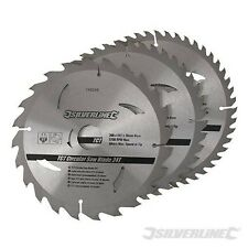 "200mm 8"" TCT Circular Saw Blades 24 40 48 Teeth 3pk 30mm Bore Skil Chop"