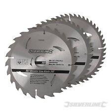 "200mm 8"" TCT Circular Saw Blades 24 40 48 Teeth 3pk 30mm Bore Skil Chop"