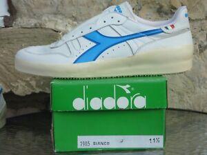 Deadstock 1980s Diadora Azzuro UK11.5 OG Made In Italy Tennis Bjorn Borg Elite
